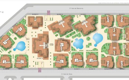 Kart over leilighetene i Puerto Marina | SolEuropa Norge